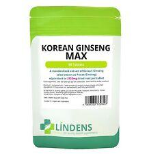 GINSENG Coreano Max PACCO DOPPIA 180 200 MG ginsenosides Naturale Qualità
