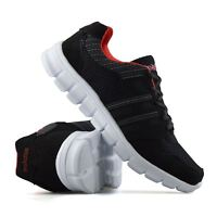 Mens Casual Walking Running Sports Gym Shock Absorbing Lace Trainers Shoes Size