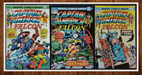 Lot of 3 Captain America and Falcon #181 182 183 VF/NM 1973 Gorgeous Set!