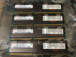 Dell Hynix 32GB (x4 8GB Sticks) 2Rx4 PC3 10600R RAMHMT31GR7BFR4C Server Memory