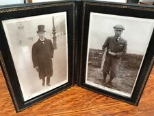 King Edward VIII Prince of Wales Leather Frame And Postcard Photos RARE