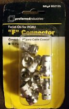 10pcs RG6 F-Type Male Twist-On Coax Coaxial Cable RF Connector Adapter F Type TV