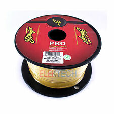 Stinger SPW318YL Audio Power Wire 18 Gauge Cable 500 ft Spool Roll Yellow