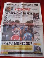 journal  l'équipe 11/07/2004 CYCLISME TOUR DE FRANCE 2004 LA BRETAGNE * ASLOUM