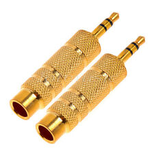 2 Pcs 6.5mm 1/4' Female to 3.5mm Male Stereo Microphone Audio Adapter Connector