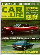 CAR LIFE Magazine JAVELIN Swift Sleek RICHIE GINTHER Tiny Tiger AAR INDY 1967
