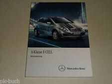 Betriebsanleitung Handbuch Mercedes Benz W169 A-Klasse E-Cell, Stand 12/2010