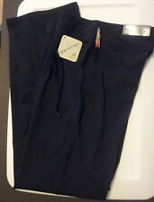 """Black Athletic Fitness Pants Size S Solid Semi Fitted 35"""" Long Inseam C9 Premium"""