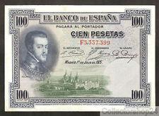 Spain 100 Pesetas 1925 Zf / Vg  pn F Serial 69c