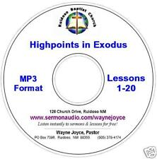 Joyce Highpoints in Exodus MP3 CD BIBLE STUDY 14+ HOURS