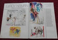1980 Magazine Article Cockfighting in the Philippines w/ Leroy Neiman ART