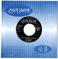 """PAT BOONE.THAT'S HOW MUCH I LOVE YOU / IF DREAMS CAME TRUE.UK ORIG 7"""".VG+"""