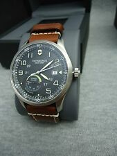 Swiss Army Men's 'Air Boss' Black Dial Brown Leather Strap Watch V241575