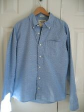 Mens Abercrombie & Fitch Blue & White Shirt Size Large Long Sleeved Brand New