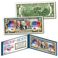 2020 HISTORIC Election JOE BIDEN VS. DONALD TRUMP Dual US Legal Tender $2 Bill
