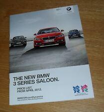 BMW Série 3 brochure 2012 316d 318d 320d 335i 328i 320i sport luxe moderne se