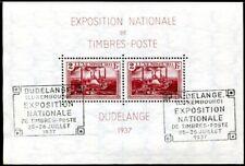 LUXEMBURG 1937 BLOCK2 GESTEMPELT mit SST DUDELANGE (I1631