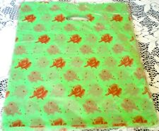"""100 Large Gift Bags Pouches Red Roses & Mini Stars, Size 14"""" X 17"""""""