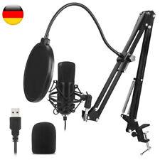 USB Plug Und Play Klang Kondensatormikrofon mit Filterhalterung für PC Laptop LA
