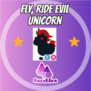⭐CHEAP + FAST⭐ Adopt*Me (Fly, Ride) FR Evil Unicorn   Virtual Item