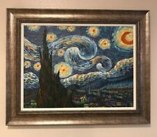 Beautiful Oil on Canvas Rendition Replica of Vincent Van Gogh's Starry Night