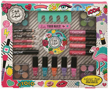 21 Piece Chit Chat Colour Pop Girls Teenage Make Up Gift Set Nails Lips Eyes
