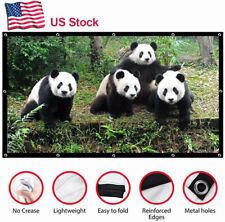 HD Projection Projector Screen 16:9 100'' inch Portable Foldable Outdoor Trip US