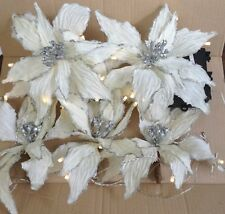 Qvc Home Decoration Kringle Express 6 Poinsettia Decorative 10' Light Strand