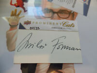 Milos Forman /33 auto 2009 UPPER DECK PROMINENT CUTS signed PSA/DNA AUTOGRAPH SP