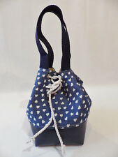 Unique Handmade Dainty Bucket Bag Fully Lined with Drawstring Closure DENIM