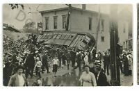 RPPC Flood Ruined Trolley ERIE PA County 1915 Pennsylvania Real Photo Postcard