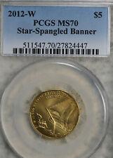 2012-W Gold $5 Commem Star-Spangled Banner PCGS MS-70!