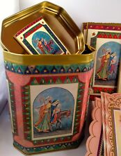 Religious Christmas TIN 16 Cards Envelopes, Raphael Tuck, Nativity Jesus NIB