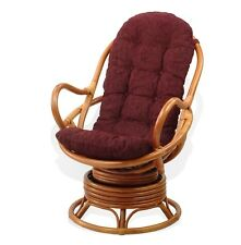 Cushion for Swivel Rocking Chair, Dark Brown Color (Just Cushion)