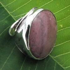 Hadar Designers Handmade Sterling Silver Rhodocrosite Ring size 8 (H 186) SALE