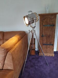 Tall Retro Vintage Movie Light