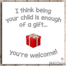 Funny Birthday Card Christmas Card Mum Dad Mothers Day Joke 40th 50th 60th 70th