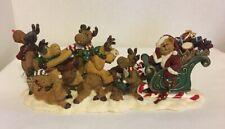 """Boyds Bears """"Poor Ol' Santa"""" #28006 """"Not Ready Reindeer"""" Nib retired Christmas"""