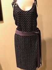 Authentic Missoni Knit Wool Purple Sleeveless Skirt 42 & top 40, Size CAMDAY