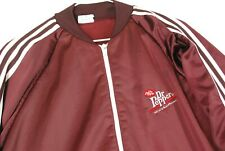 Vintage 80s Dr Pepper Soda Pop Drink Track Jacket T Shirt Mens M Snack Promo