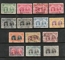 RHODESIA (BSAC) 1910 LARGE SELECTION OF DOUBLE HEAD STAMPS TO TWO SHILLINGS