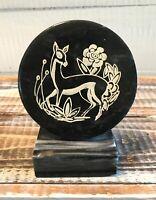 Charles Singer Selection Marble Stone Doe Deer Statue Figurine Paperweight