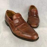 Allen Edmonds Hindsdale Mens Loafers Shoes Brown Leather Slip-On 12 EUR 46 D