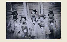 5 Confederate Prisoners PHOTO Civil War Soldiers Group, POW, Union Prison Camp