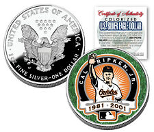CAL RIPKEN JR 2001 American Silver Eagle Dollar 1 oz Colorized Coin RETIREMENT