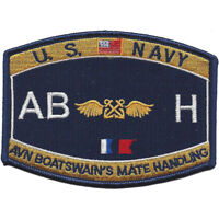 """Navy Aviation Boatswain's Mate Handling ABH Rating Patch 4 1/2"""" x 3 1/4"""" License"""