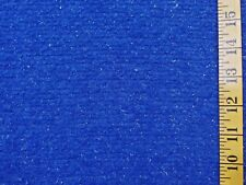 Royal Blue Sparkle 3 Way Stretch Polyester Chenille Knit Fabric By The 1/2 Yard