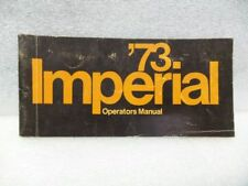 CHRYSLER IMPERIAL  1973 Owners Manual 16363