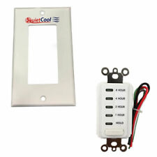 QuietCool 8 Hour Countdown Timer and Single Gang Wall Plate