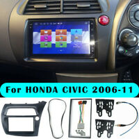 Car Radio Frame Stereo Double Din Dash Kit Grey Fit for Honda Civic 2006-2011 GL